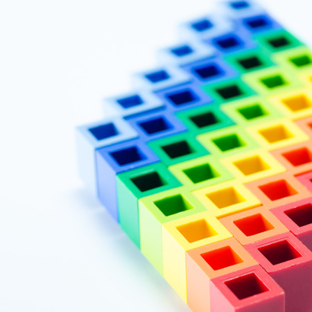 colorful plactic block close up photo