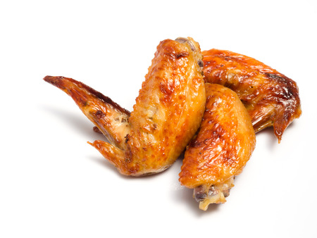 grill chicken wings close up isolated photo