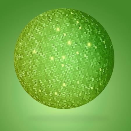Abstract globe green photo