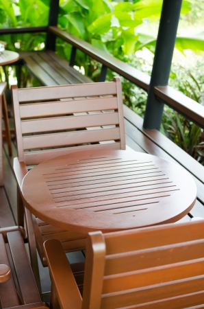 Chair and tables in outdoor cafe Stock Photo - 24867404
