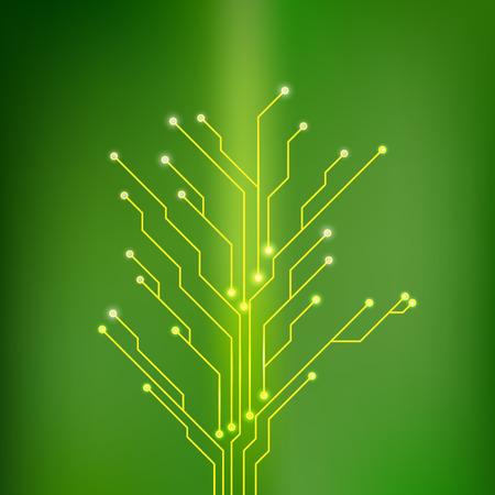circuit board tree shape