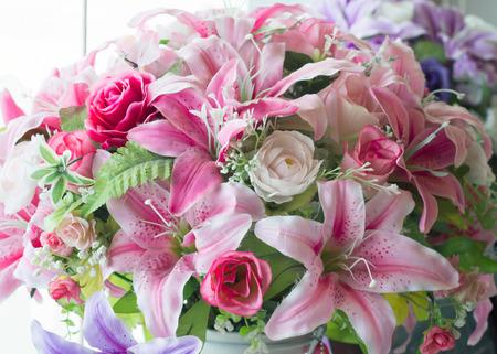 Handmade flowers bouquet Stockfoto