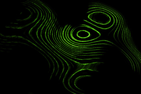 luminosity: abstract lines wave glowing in dark background