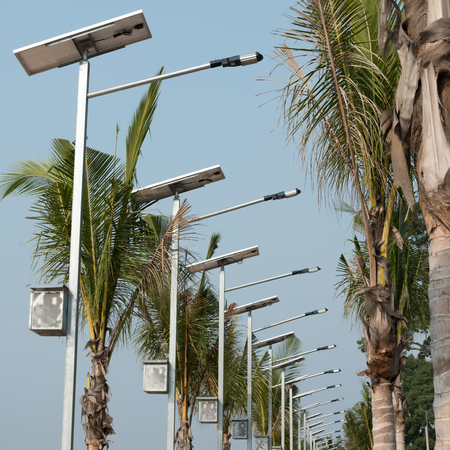 pannel: street lamp with solar pannel