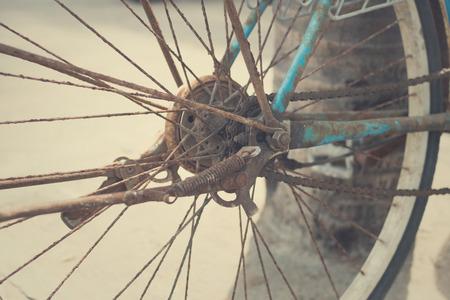paddle wheel: old bicycle wheel closeup
