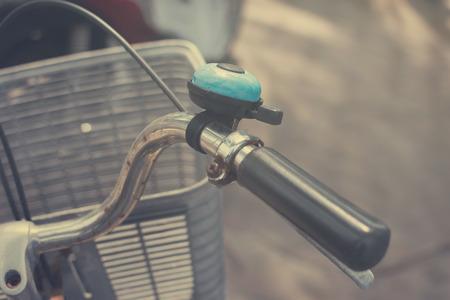 old bicycle closeup