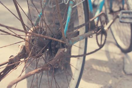 paddle wheel: old bicycle closeup