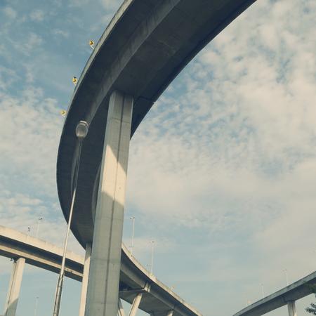 curve: curve of highway bridge Stock Photo