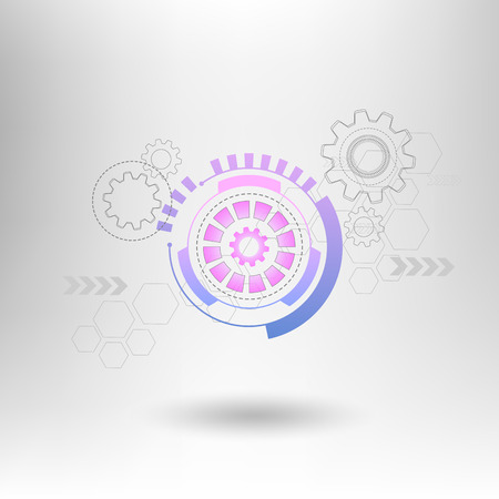 technology abstract background: Abstract technology gears background