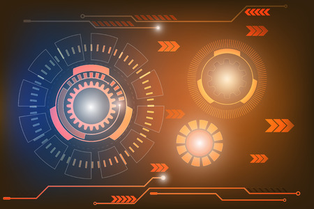 technology abstract background: technology abstract background Illustration