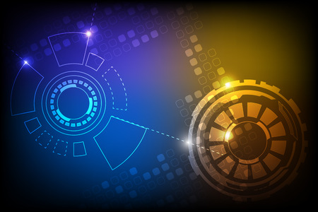 abstract technology background design with light effect