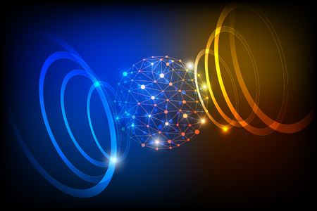 technology abstract background Stock Photo
