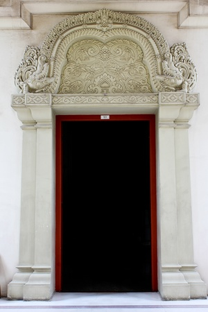 Thai carved doors  Stock Photo