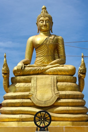 Golden Thai buddha  Stock Photo