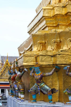 Wat Phra Kaew Temple the most famous landmark in Bangkok, Thailand