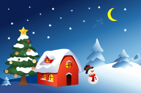 christmas village: christmas background