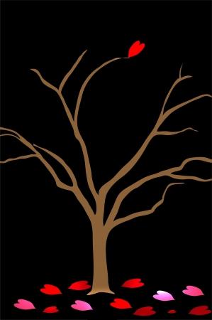 broken heart tree Stock Photo - 15608912