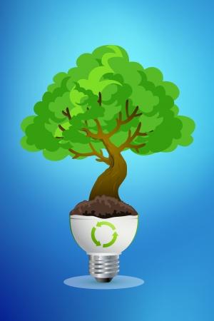 ecologic: save world, tree Stock Photo
