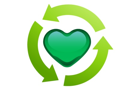 recycle, love heart Stock Photo