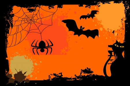 cobwebby: Halloween background
