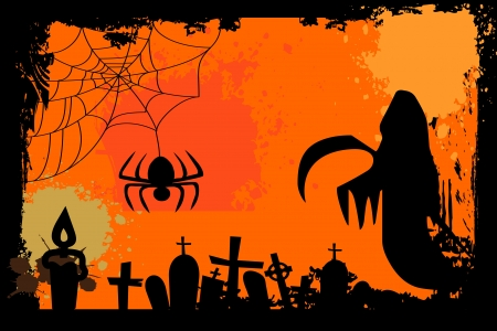 Vintage halloween background photo