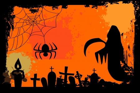springe: Vintage halloween background
