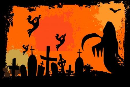 springe: Grunge halloween background