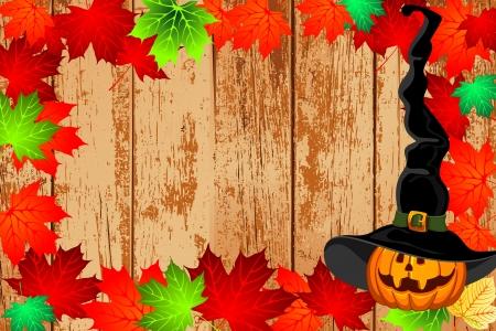 springe: autumn and pumpkin background Stock Photo