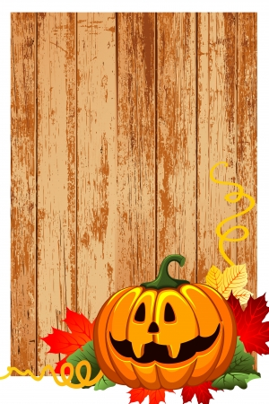 autumn and pumpkin background Stock Photo