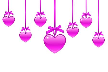 Pink heart, valentine day