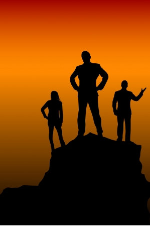 trekking: Leader and teamwork
