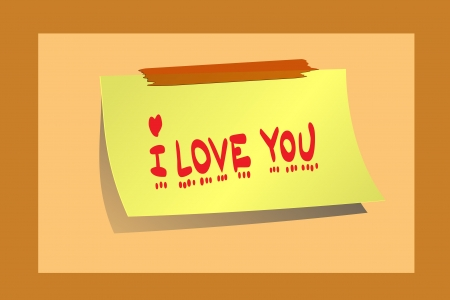 I love you message photo