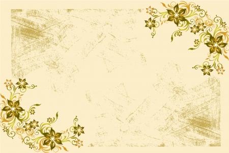 Flower vintage wallpaper Stock Photo - 15790578