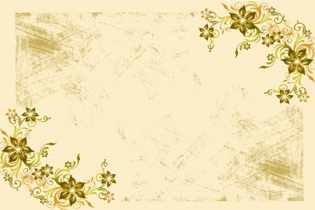 Flower vintage wallpaper Stock Photo