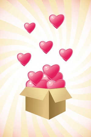 pink heart box Stock Photo - 15790766
