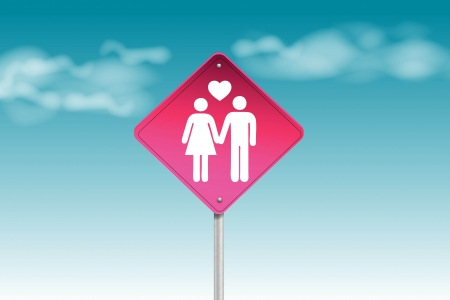 Couple traffic sign