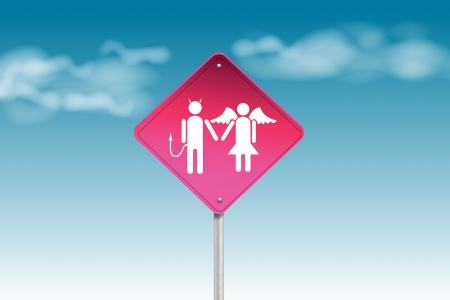 Couple traffic sign photo