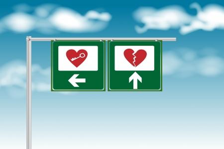 Love or broken heart sign