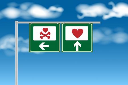 Heart or broken heart sign