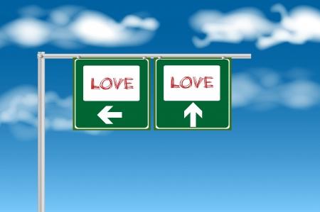 Love sign photo