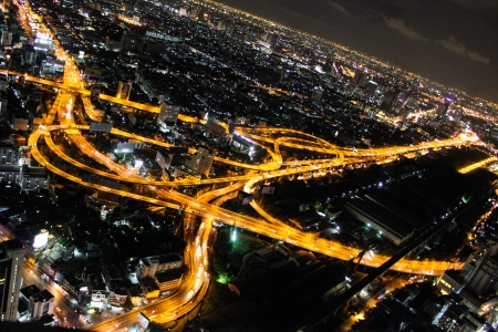 night view in Bangkok city  photo