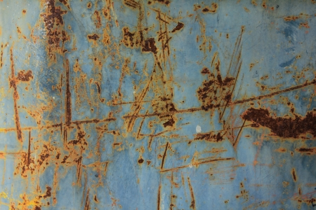 Rusty corrugated metal wall photo