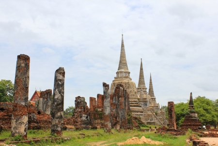 The landscape of ayutthaya city of Thailand, the ancient city photo