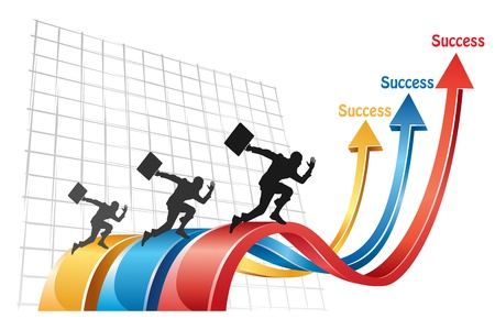 The competition in business concept