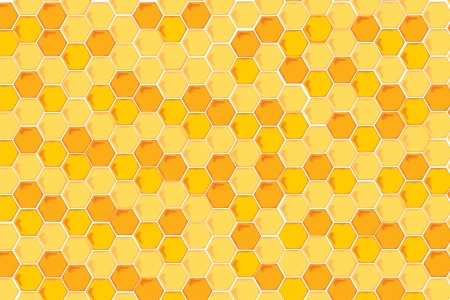 Illustration of a Natural Background with Honeycombs illustration