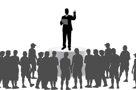 disciples: businessman explaining disciples material Stock Photo