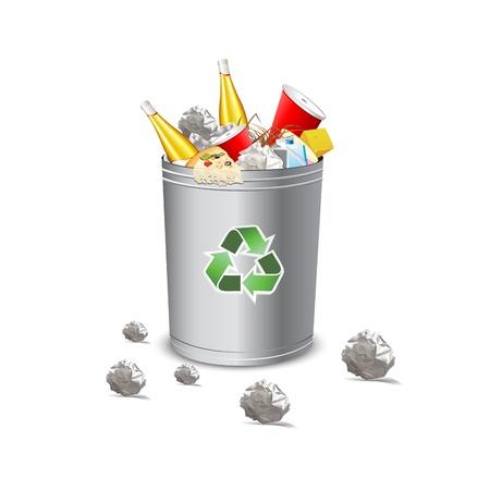 dispose: recycle garbage bin