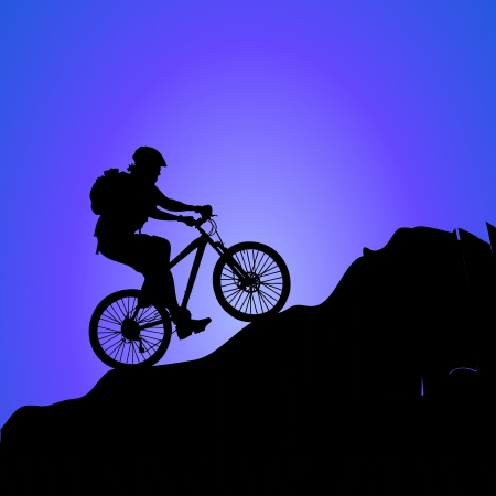 bike on the mountain photo