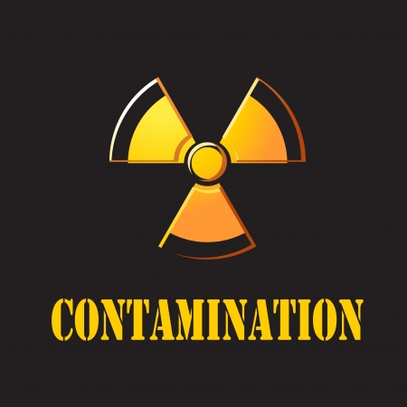 isotope: nuclear with contaminate Stock Photo