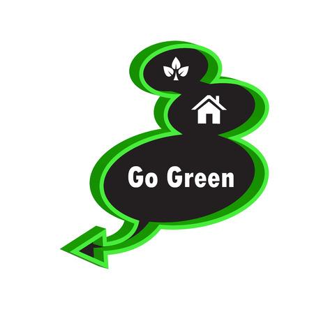go green on the black speech photo